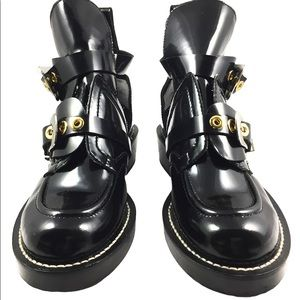BALENCIAGA Black Ceinture Leather ankle boots